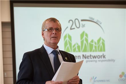 Også i fremtiden er der store opgaver for Green Network, forsikrede Vejles Borgmester, Arne Sigtenbjerggaard, i sin tale ved Green Networks 20 års jubilæum
