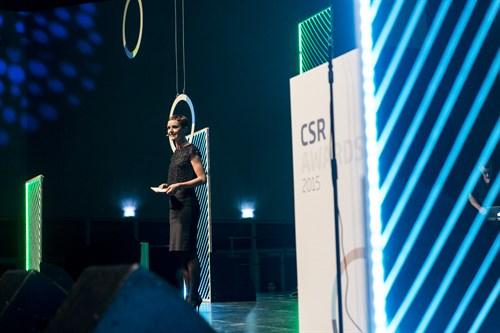 Lise Rønne var vært for prisoverrækkelsen, og hun sørgede for at føre deltagerne sikkert gennem aftenens festlige program på bedste X Faktor manér
