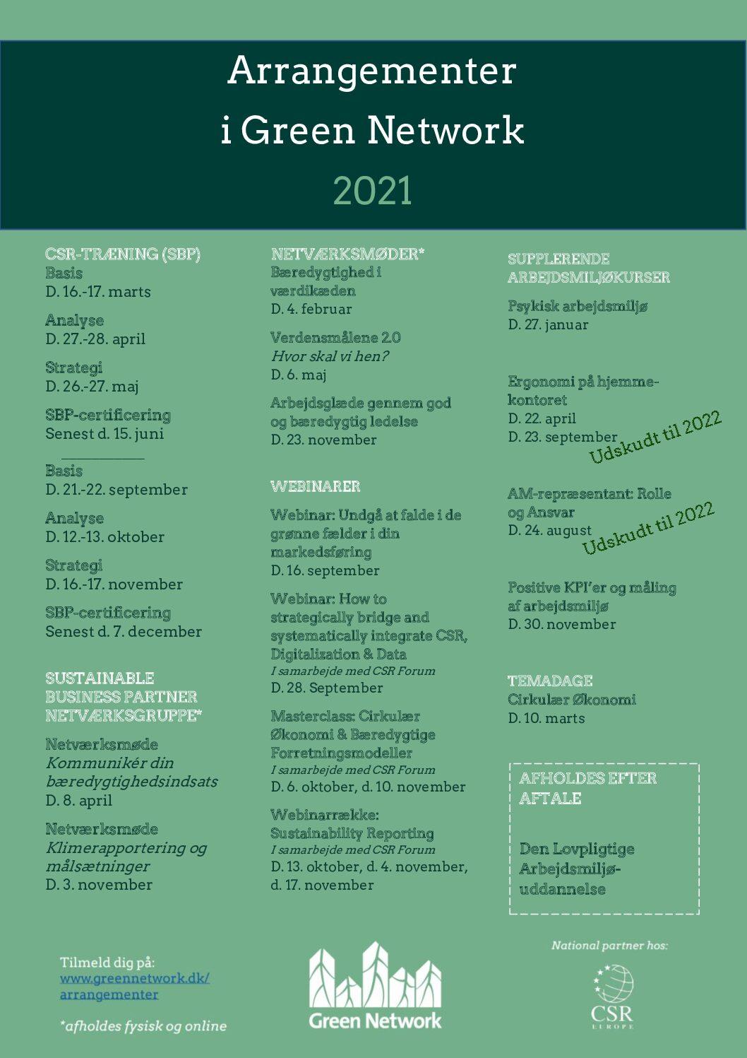 Arrangementsoversigt 2021_opdateret september
